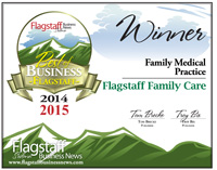 Flagstaff Family Care Best of Flagstaff Winner 2015